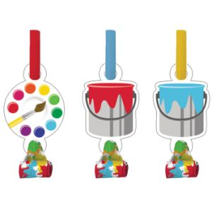 Art Party Blowouts, w/ Medallion 8ct.