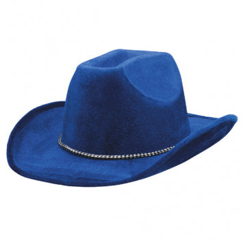 Blue Velour Cowboy Hat