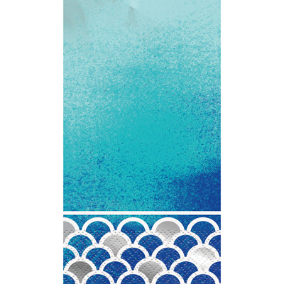 Ocean Blue Scalloped Guest Towels 16ct.
