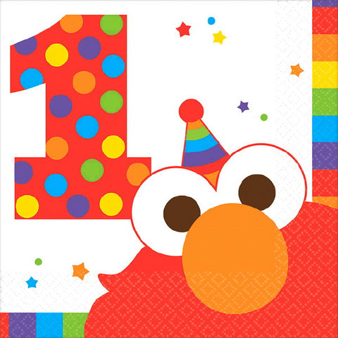 Elmo Turns One Beverage Napkins 16ct.