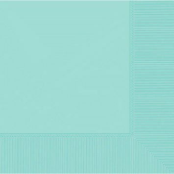 Robin's Egg Blue 3-Ply Beverage Napkins 50ct.