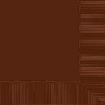 Chocolate Brown 3-Ply Beverage Napkins 50ct.