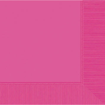 Bright Pink 3-Ply Beverage Napkins 50ct.