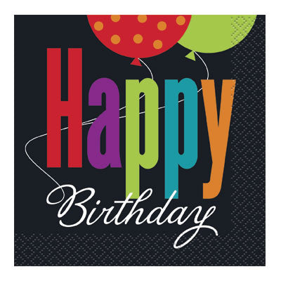 Birthday Cheer Beverage Napkins 16ct.