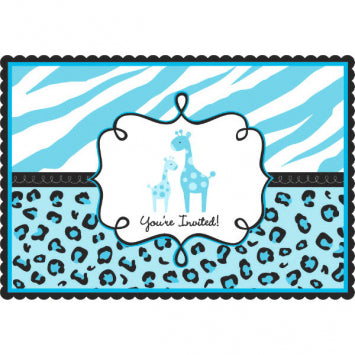 Sweet Safari Boy Postcard Invitations 20ct.