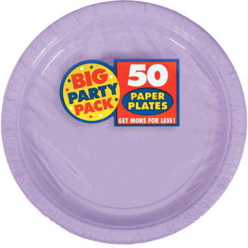 "Lavender Big Party Pack 7"" Paper Plates 50ct."