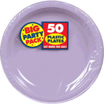 "Lavender Big Party Pack 7"" Plastic Plate 50ct."