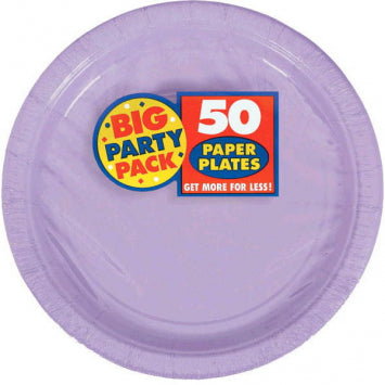 "Lavender Big Party Pack 9"" Paper Plates 50ct."