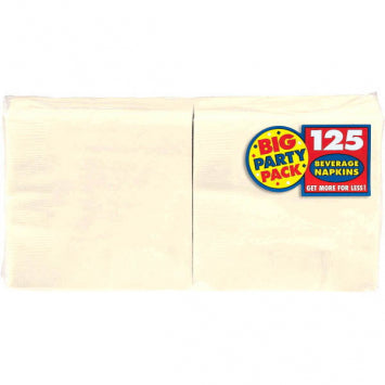 Vanilla Crème Big Party Pack Beverage Napkins 125ct.