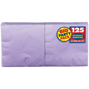 Lavender Big Party Pack Beverage Napkins 125ct.