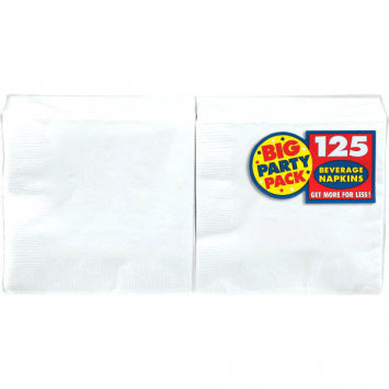 Frosty White Big Party Pack Beverage Napkins 125ct.