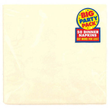 Vanilla Crème Big Party Pack 2-Ply Dinner Napkins 50ct.