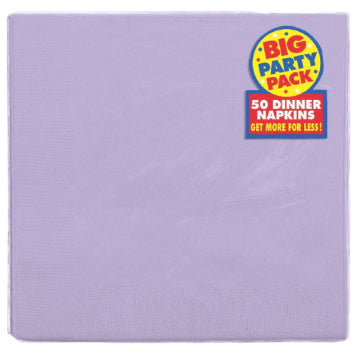 Lavender Big Party Pack 2-Ply Dinner Napkins, 50ct.