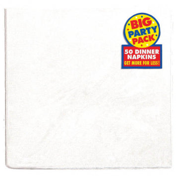 Frosty White Big Party Pack 2-Ply Dinner Napkins 50ct.