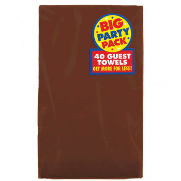 Chocolate Brown Big Party Pack 2-Ply Guest Towels 40ct.
