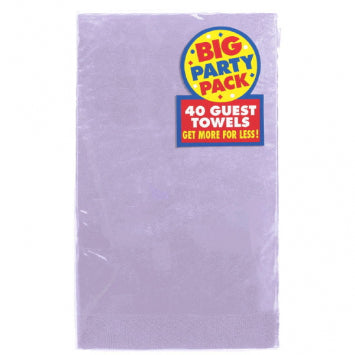 Lavender Big Party Pack 2-Ply Guest Towels, 40ct.