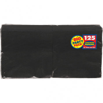 Jet Black Big Party Pack Luncheon Napkins 125ct.