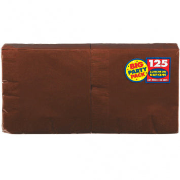Chocolate Brown Big Party Pack Luncheon Napkins 125ct.