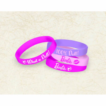 Barbie Rubber Bracelet Favors 4ct.