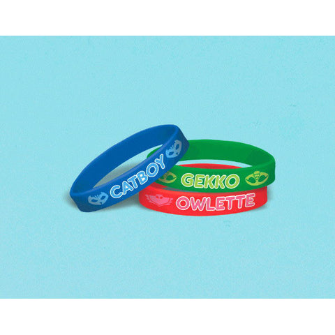 PJ Masks Rubber Bracelet Favors 6ct.