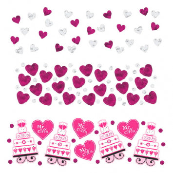 Bright Pink - Heart & Cake Value Confetti