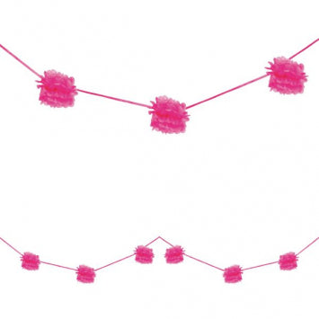 Bright Pink - Fluffy Garland 2ct.