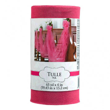 Bright Pink - Tulle Spool