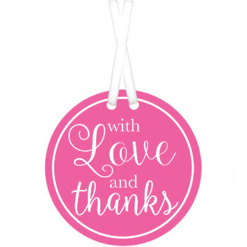 Bright Pink - With Love & Thanks Tags 25ct.