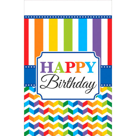 Bright Birthday Plastic Table Cover
