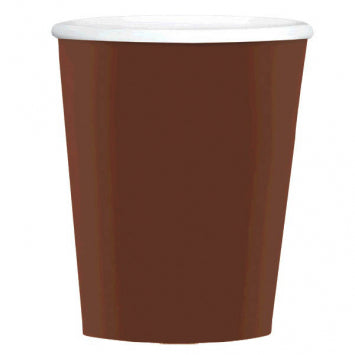 Chocolate Brown Big Party Pack 12oz. Paper Coffee Cups 40ct.