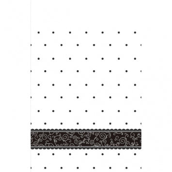 Black & White Wedding Paper Table Cover