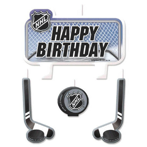 NHL Ice Time! Birthday Candle Set 4ct.