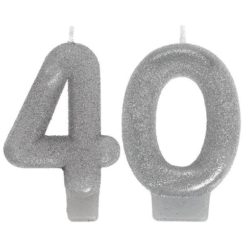 Sparkling Celebration 40 Numeral Candles