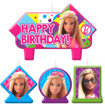 Barbie Sparkle Birthday Candle Set 4ct.
