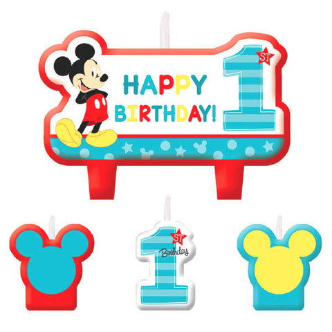 Mickey's Fun To Be One Birthday Candle Set 4ct.