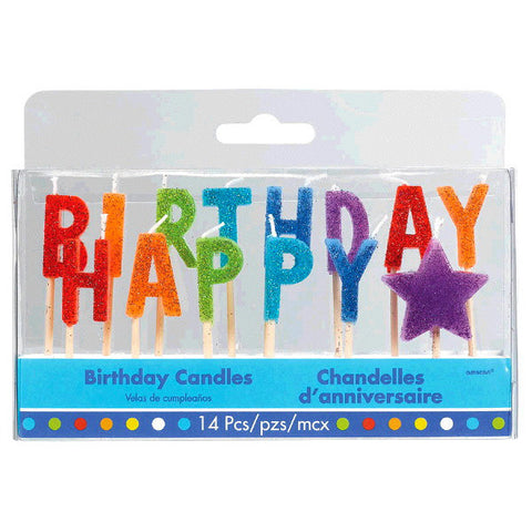 Bright Birthday Pick Candles 14ct.