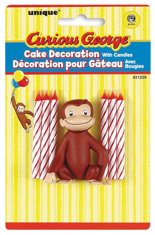 Curious George Cake Candles 7ct.