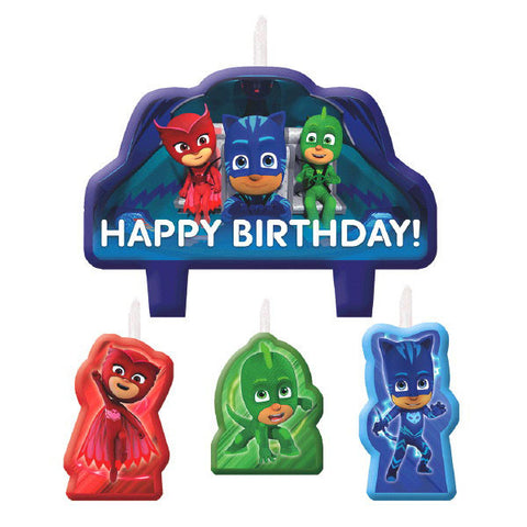 PJ Masks Birthday Candle Set 4ct,