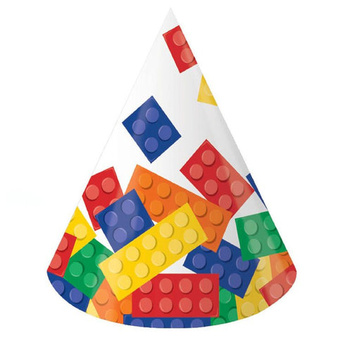Block Party Paper Party Hats, Child Size 8ct.