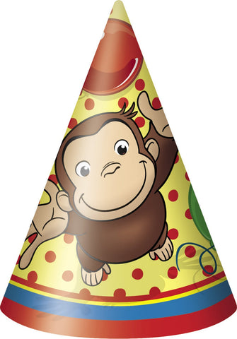 Curious George Cone Hats 8ct.