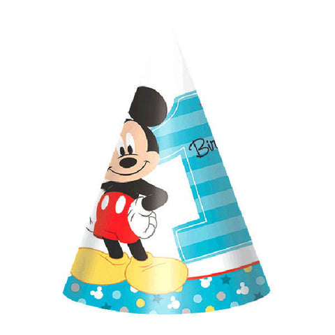 Mickey's Fun To Be One Paper Cone Hats 8ct.