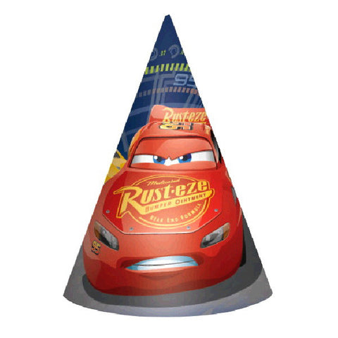 Disney Cars 3 Paper Cone Hats 8ct.