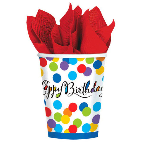 Confetti Bash Cups, 9 oz. 8ct.