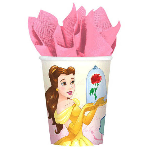 Beauty And The Beast Cups, 9 oz. 8ct.