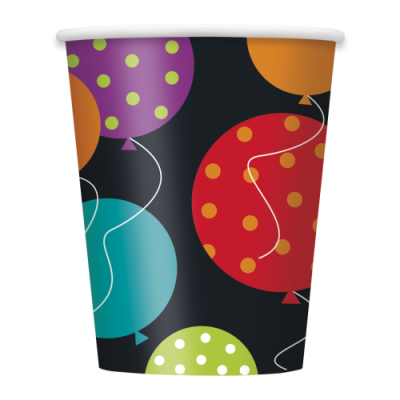 Birthday Cheer 9oz. Cups 8ct.