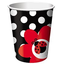Ladybug Fancy 9 oz Hot/Cold Cups 8ct.