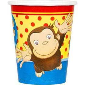 Curious George 9oz. Cups 8ct.