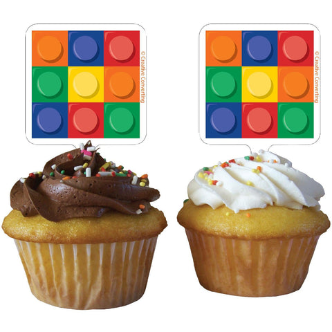Block Party Cupcake Topper 12ct.