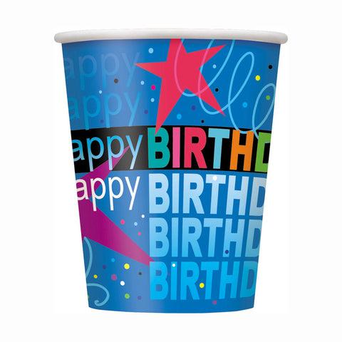 Cosmic Birthday 9oz. Cups 8ct.