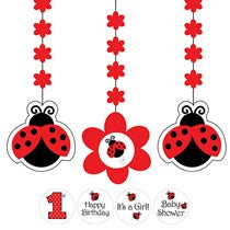 Ladybug Fancy Hanging Cutouts, w/ Stickers, w/ Stickers 3ct.